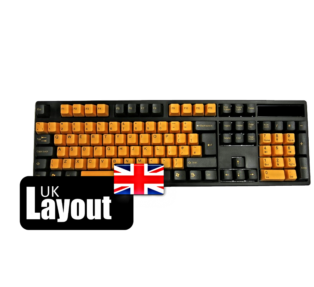 Tai-Hao PBT Double Shot Keycaps Black Orange UK